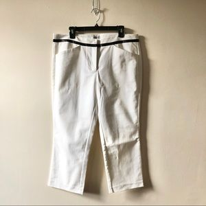 DKNY White Cropped Pants